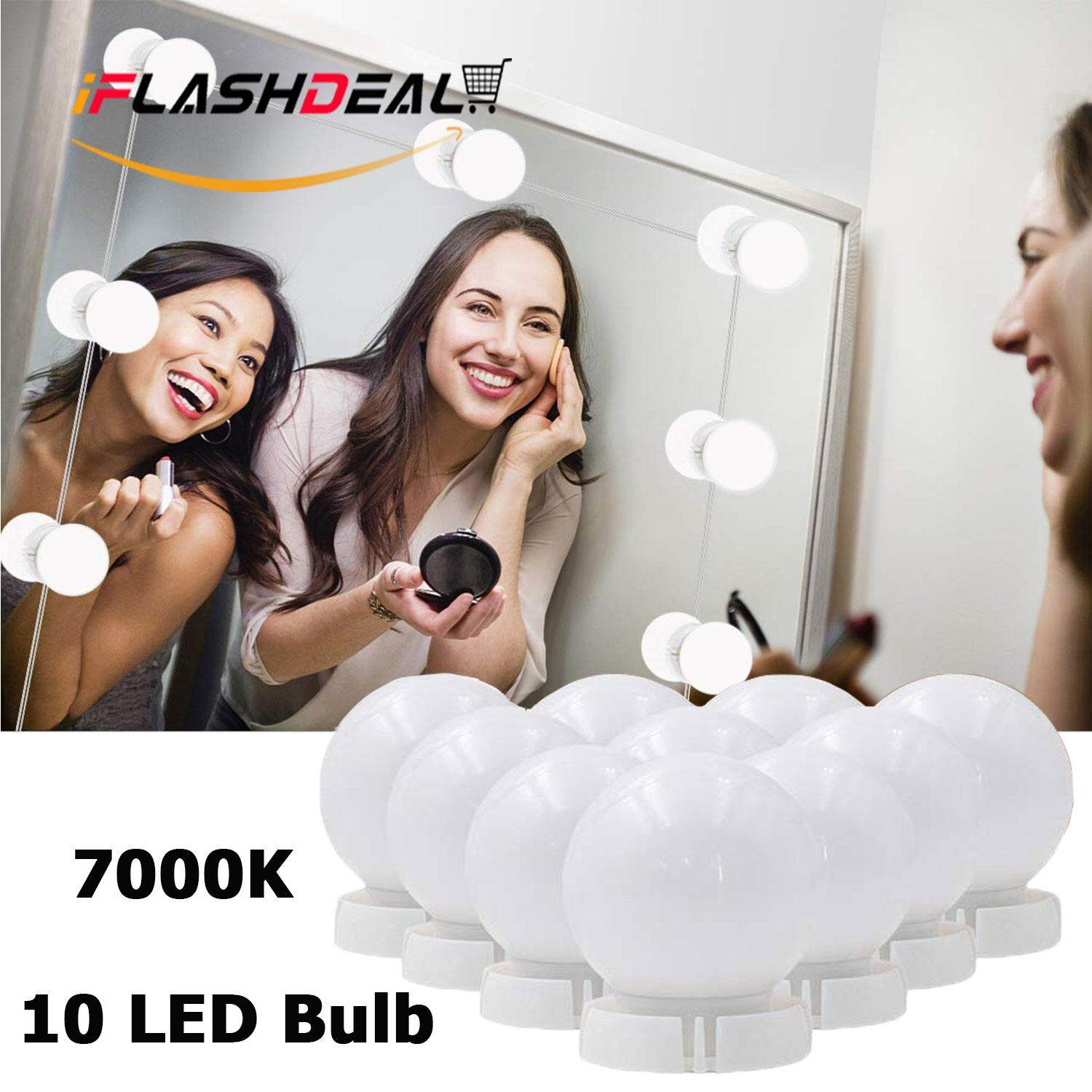 iFlashDeal Led Mirror Lights Make Up Vanity Mirror Light with 10 Light Bulbs for Makeup Dressing Table Lighting Strip Hollywood Style Philippines