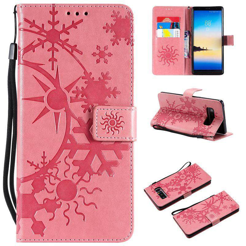 For Samsung Note 8 Flower PU Leather Flip Magnet Wallet Stand Card Slots Cover Case
