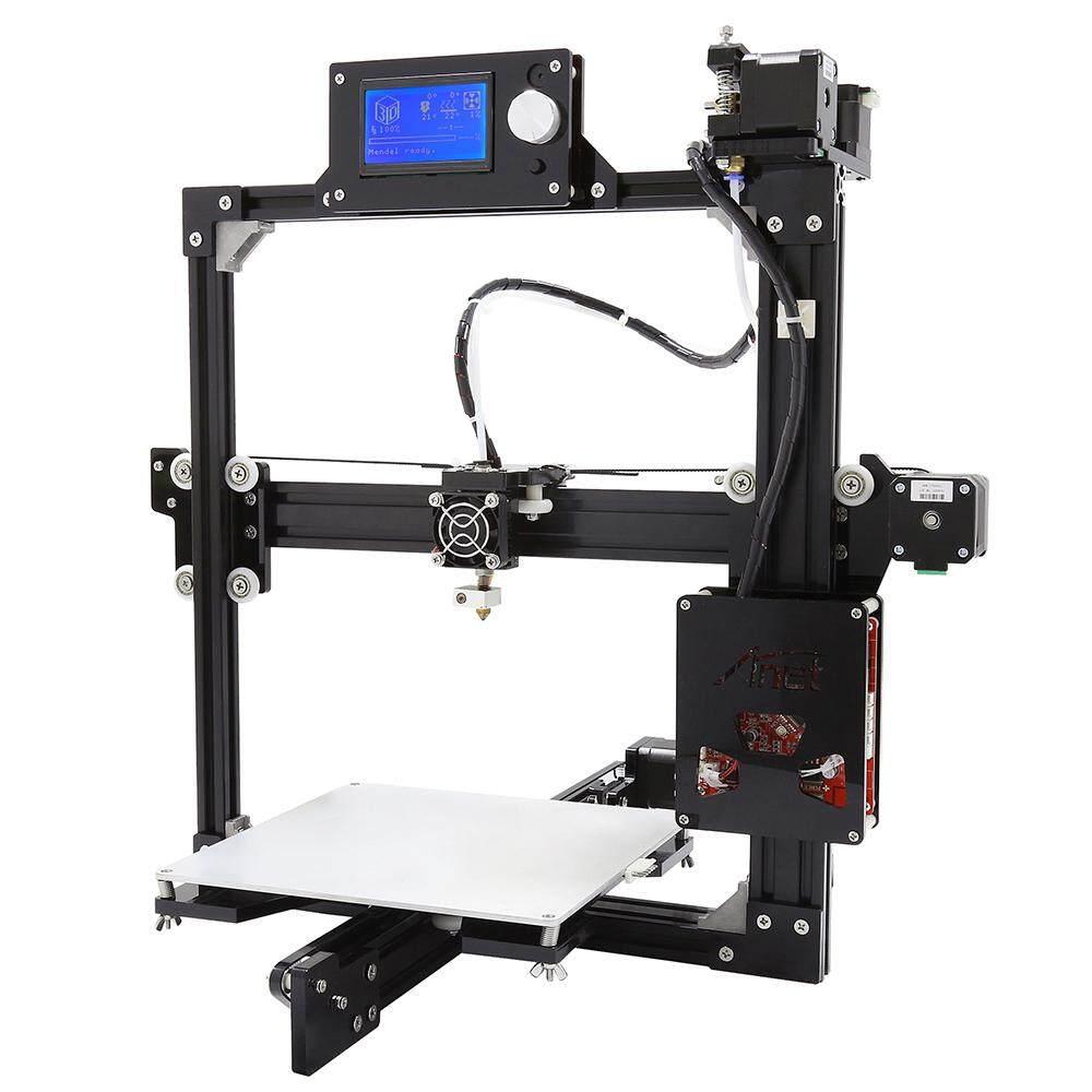 Anet A2 PLUS Logam Aluminium 3D Tiga Dimensi Pencetak Pengerjaan Sendiri dengan Tf Kartu Off-Line Printing/Opsional Layar LCD