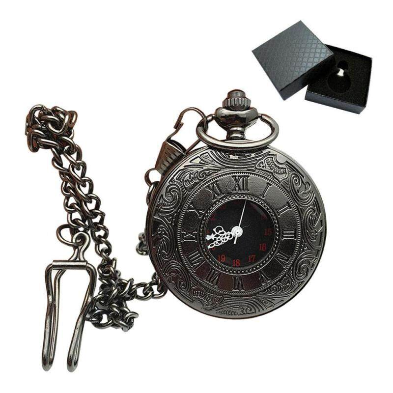 niceEshop Vintage Alloy Hollow Case Mechanical Pocket Watch with Chian and A Gift Box for Men and Women Malaysia
