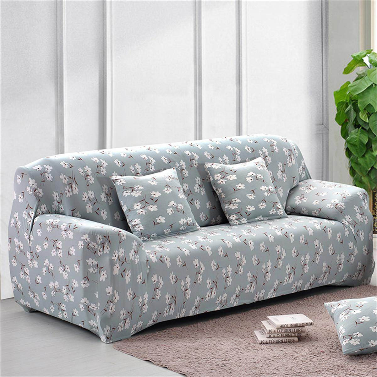 1/2/3Pcs Seater Floral Modern Stretch Sofa Slipcover Protector Soft Couch Cover #4 seater