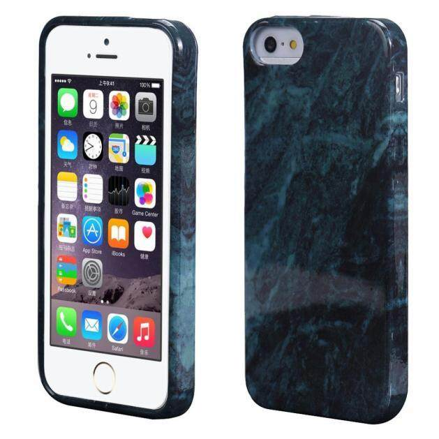 Olahraga Source · Vernonstore Marble Tekstur Cetak Cover Case Kulit untuk iPhone SE .