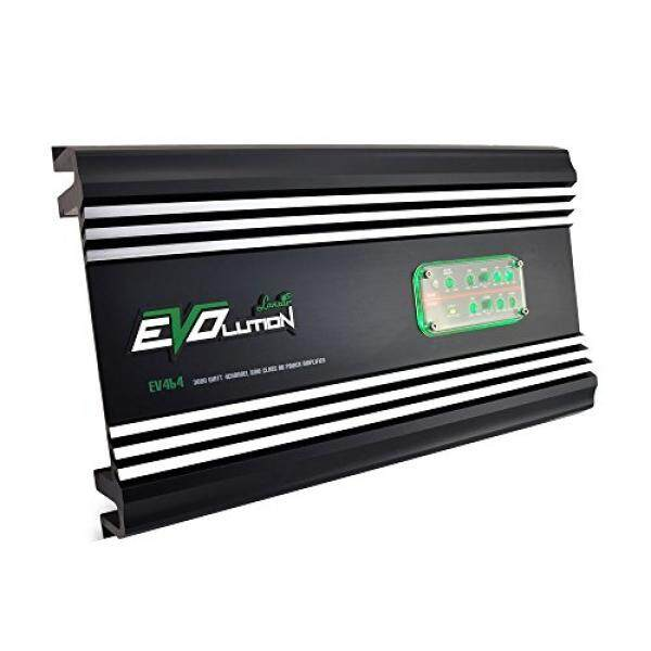 4 Channel 3000 Watt Amplifier - SMD Class A/B MOSFET, RCA Input, Amp Power Supply, Bass Boost, Mobile Audio, Amplifier for Car Speakers, Car Electronics, Crossover Network - Lanzar EV464 / From USA