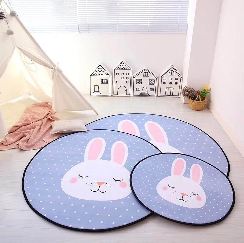 [OrangeHome] Diameter 150 (cm) (1 pc) LivingRoom Bedroom Cartoon Round Carpet Floor Mat Rug Lake Blue Diaemeter 150 (cm) (1 pcs) - intl