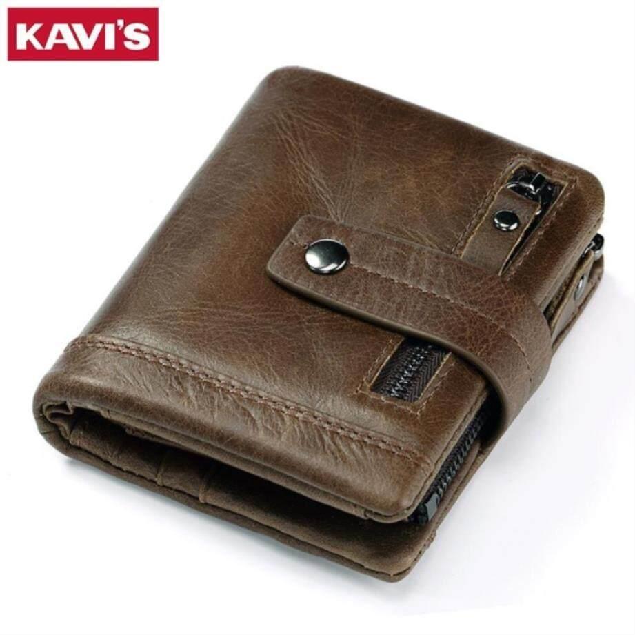 Kavis Genuine Leather Wallet Men Portfolio Man Male Small Portomonee Vallet  With Coin Purse Pockets Slim c30ba05fdb0d