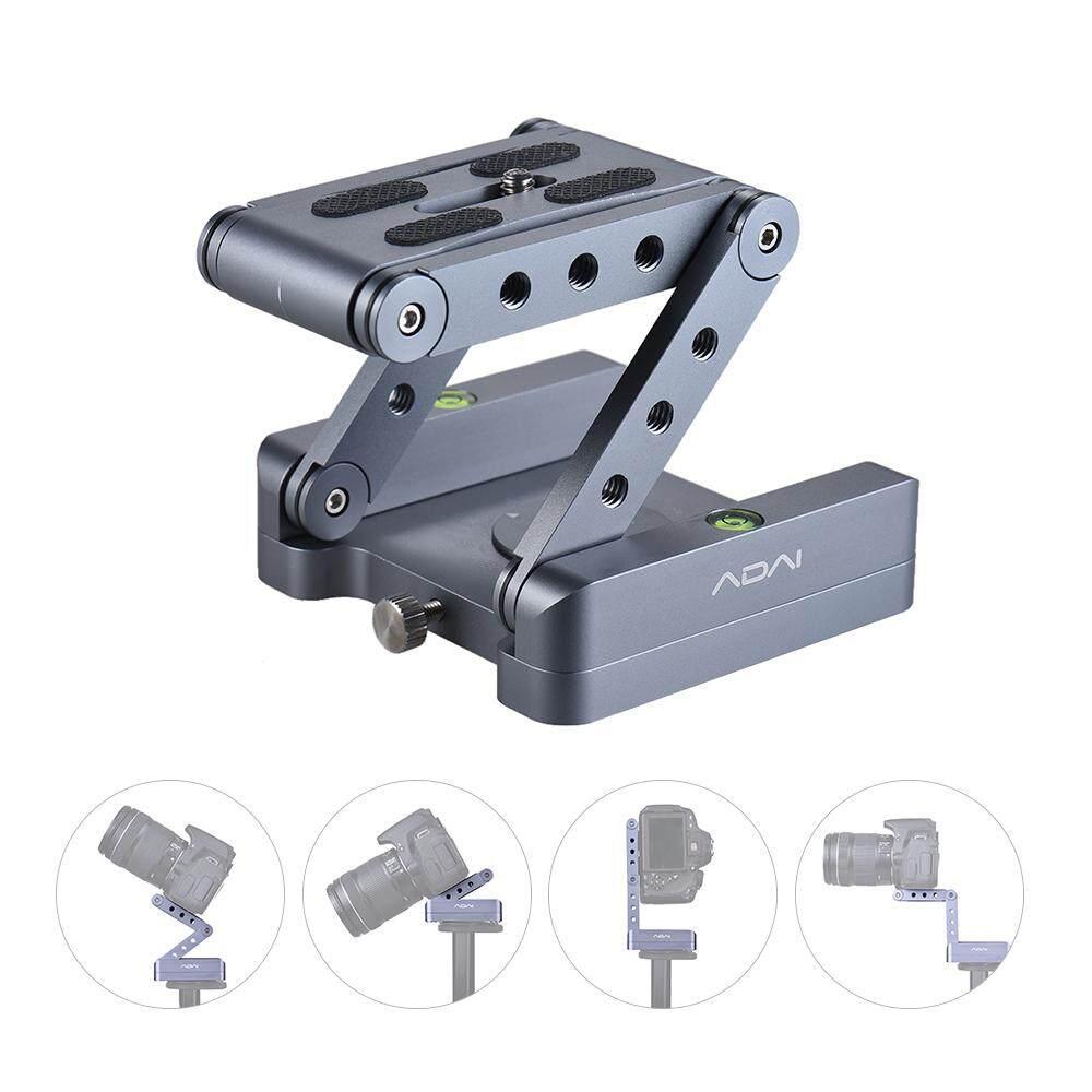 Z Kemiringan Fleksibel Kepala Tripod Lipatan Campuran Alumunium Z Memiringkan Kepala 360� Rotary Rilis Cepat Piring Berdiri Mount Spirit Level untuk Kamera DSLR Canon Nikon Sony Pentax -Intl