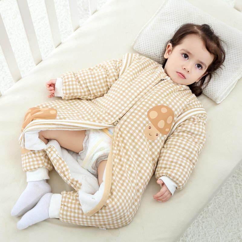 Baby Cotton Removable Long Sleeve Zip Up Sleeping Bag Children Thicken Spring Autumn - Intl By Aprillan International Store