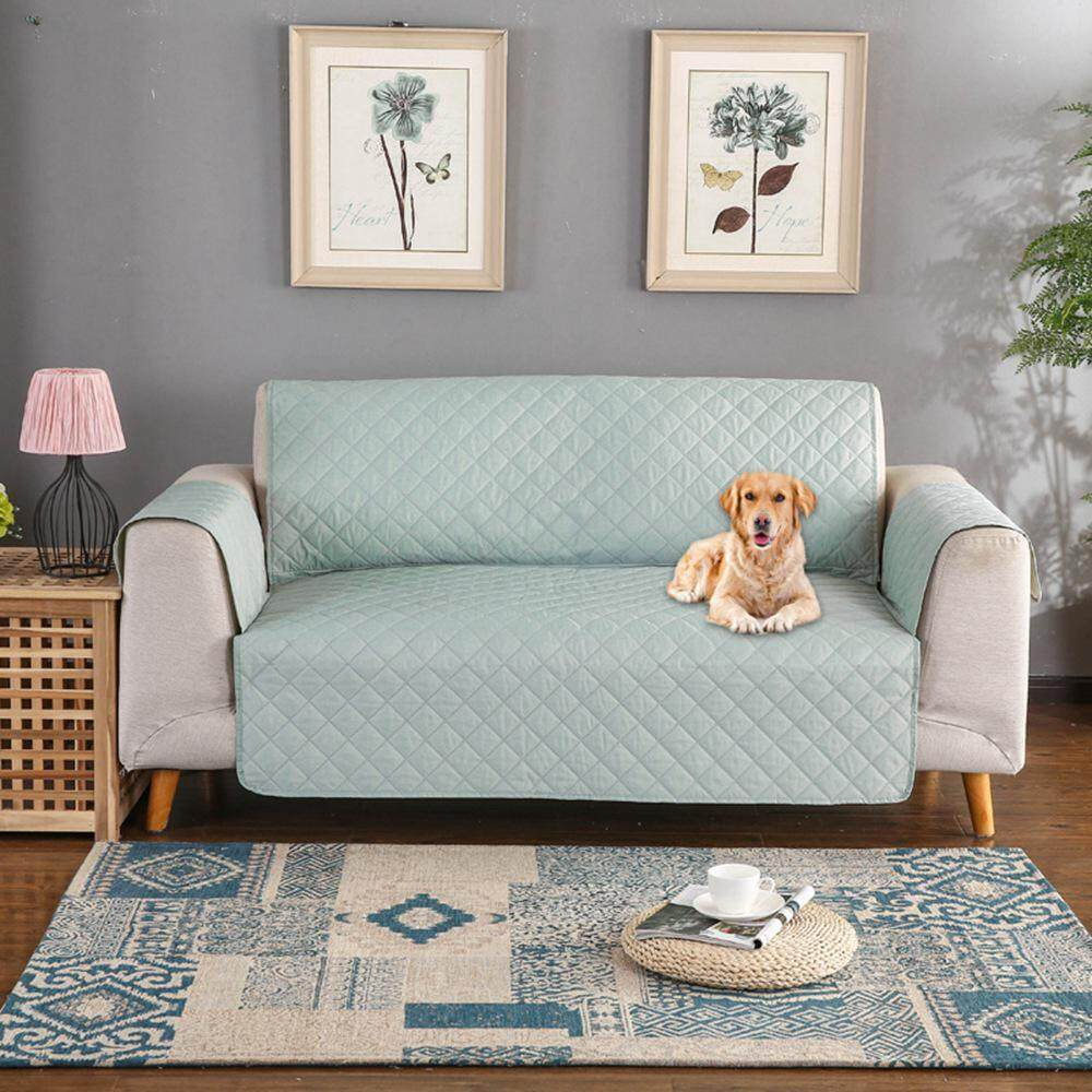 OXOQO Sofa Cover, Waterproof Pet Sofa Slipcover Couch Covers Furniture Protector Covers Skid Resistance Wear-Resistant Thickening Solid color Sofa Dust Cover 65.7*74.8in (3 Seater)