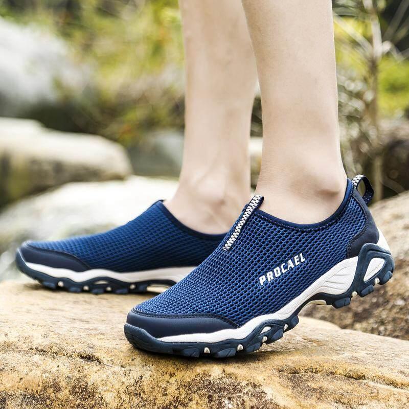 YEALON Hiking Shoes Men Men Outdoor Sneakers Breathable Outdoor Sports Camping Shoes Hiking Shoes Waterproof For Men Tactical Hiking Upstream Shoes Sports Sneakers Shoes - 3