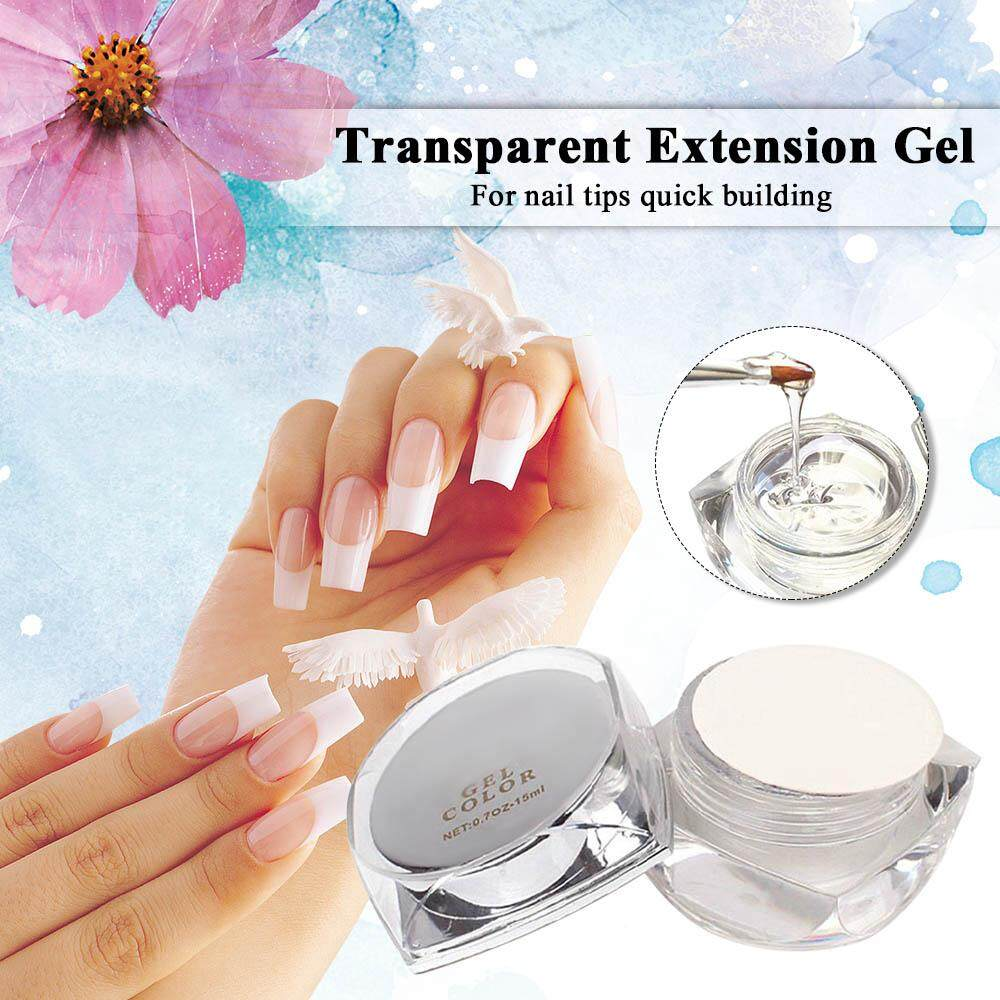 (Free Shipping Fee)Transparent Poly Gel Lasting Finger Nail Crystal Jelly UV Lamp Extension Gel Acrylic Nail Extend Glue Nails UV Builder Gel Philippines