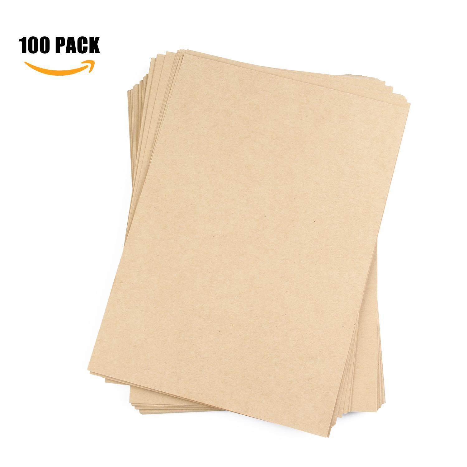 yazhang Kraft Paper, Pack Of 50 Natural Packing Wrapping Kraft Paper - 8.26x11.69inch - intl