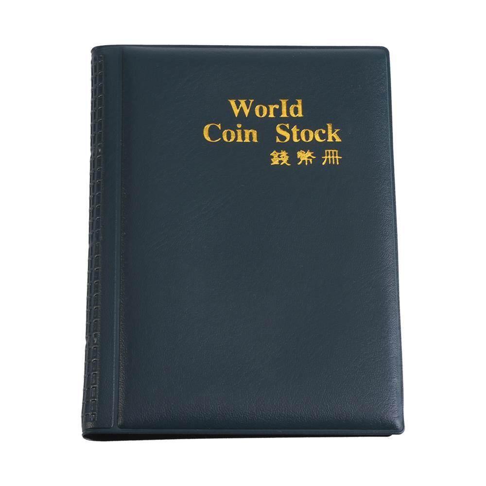 Hình ảnh Mới 120 Túi 10 Trang Thế Giới Đồng Tiền Lưu Trữ Thư Mục Album Tiền Thu Thập Giá Đỡ Sách Xanh Lá-quốc tế