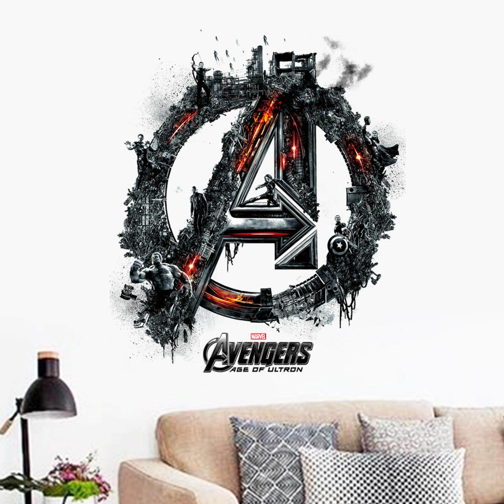 Avengers Building Sign PVC Wall Stickers Removable Decal Mural Art Picture Wallpaper Room Home Decor