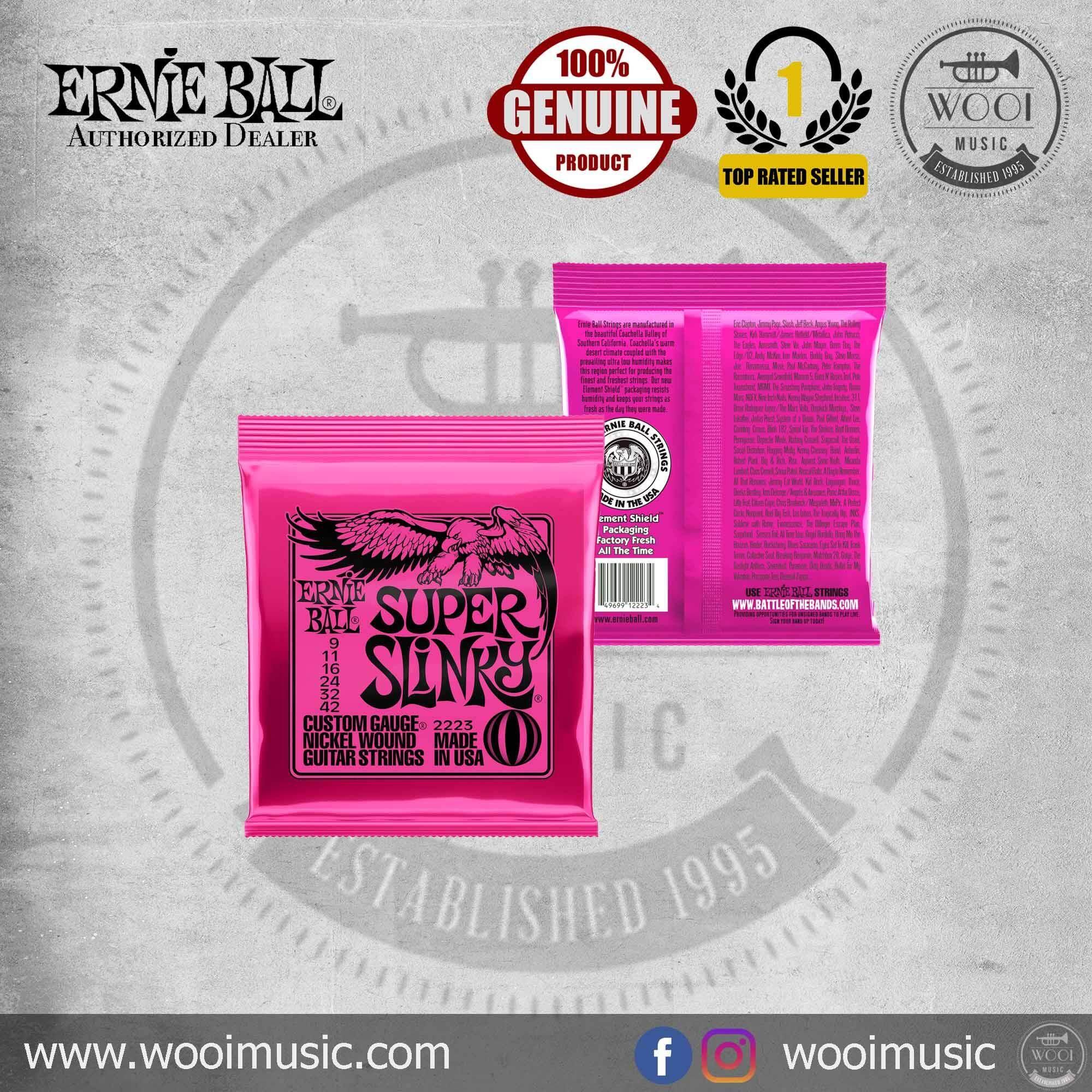 Ernie Ball 2223 Super Slinky Nickel Wound Set