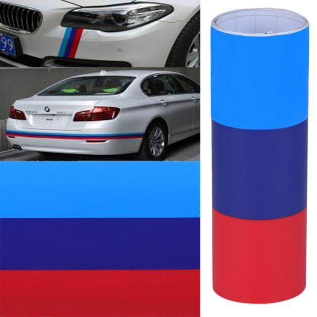 DIY untuk BMW Bendera Auto Garis Pinggang Hood Sakit Stiker Vinil Mobil Stiker 1 M Fanestiy