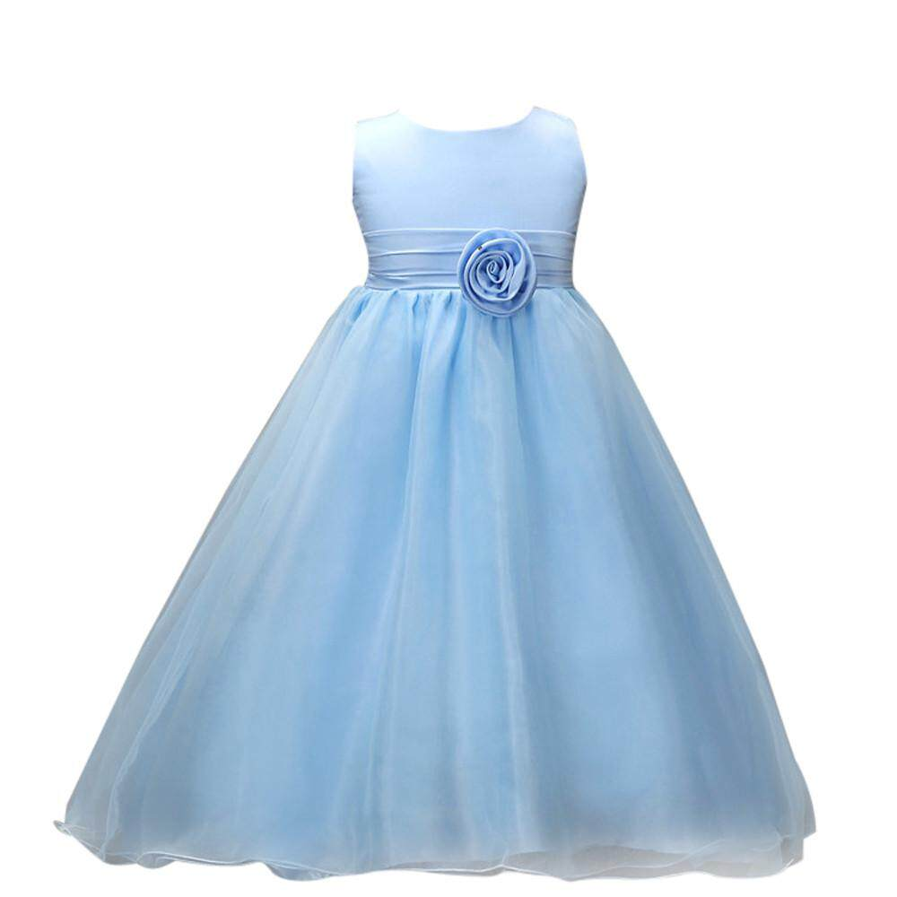 Teresastore Flower Girl Princess Bridesmaid Pageant Tutu Tulle Gown Party Wedding Dress