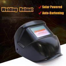 Hitam Solar Powered Auto Gelap Helm Las Grinding TIG Masker Las-Intl