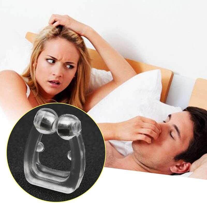 Sway ซิลิโคน Anti Snore คลิปหนีบจมูก Night Sleeping ป้องกันอาการนอนกรนคลิปสำหรับยางหยุดการนอนกรน - Intl.