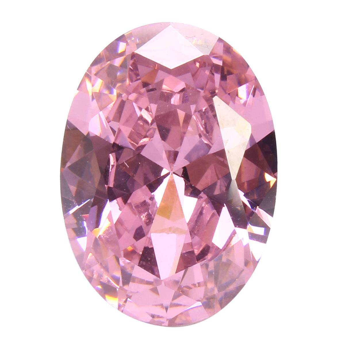 60214af2cf9 AAA Pale Pink Sapphire Gems Oval Faceted Cut 4.26ct VVS Loose Gemstone 5  Sizes