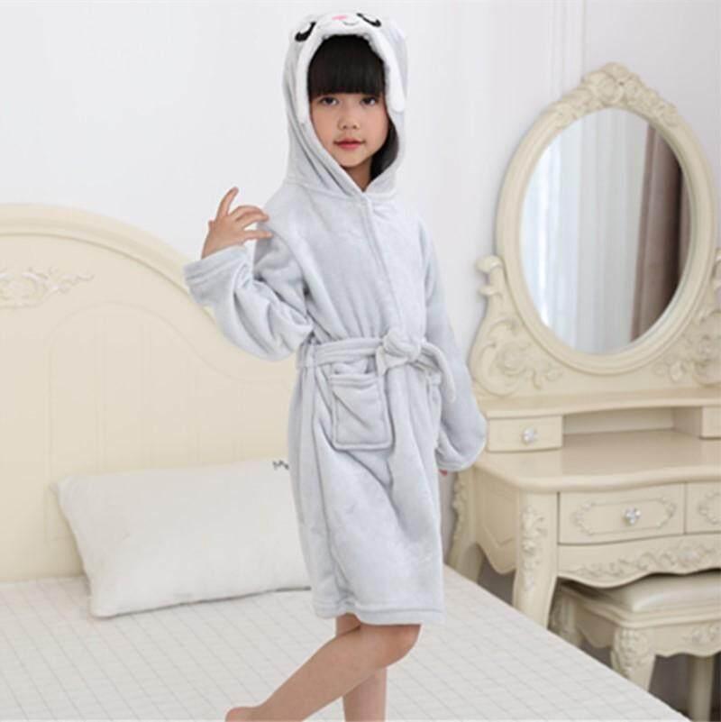 Robes Bamboo Fiber Children Bathrobe Kds Towel Material Cartoon Cap Boys And Girls Bathing Bath Spa Bathrobes Spring Summer Winter
