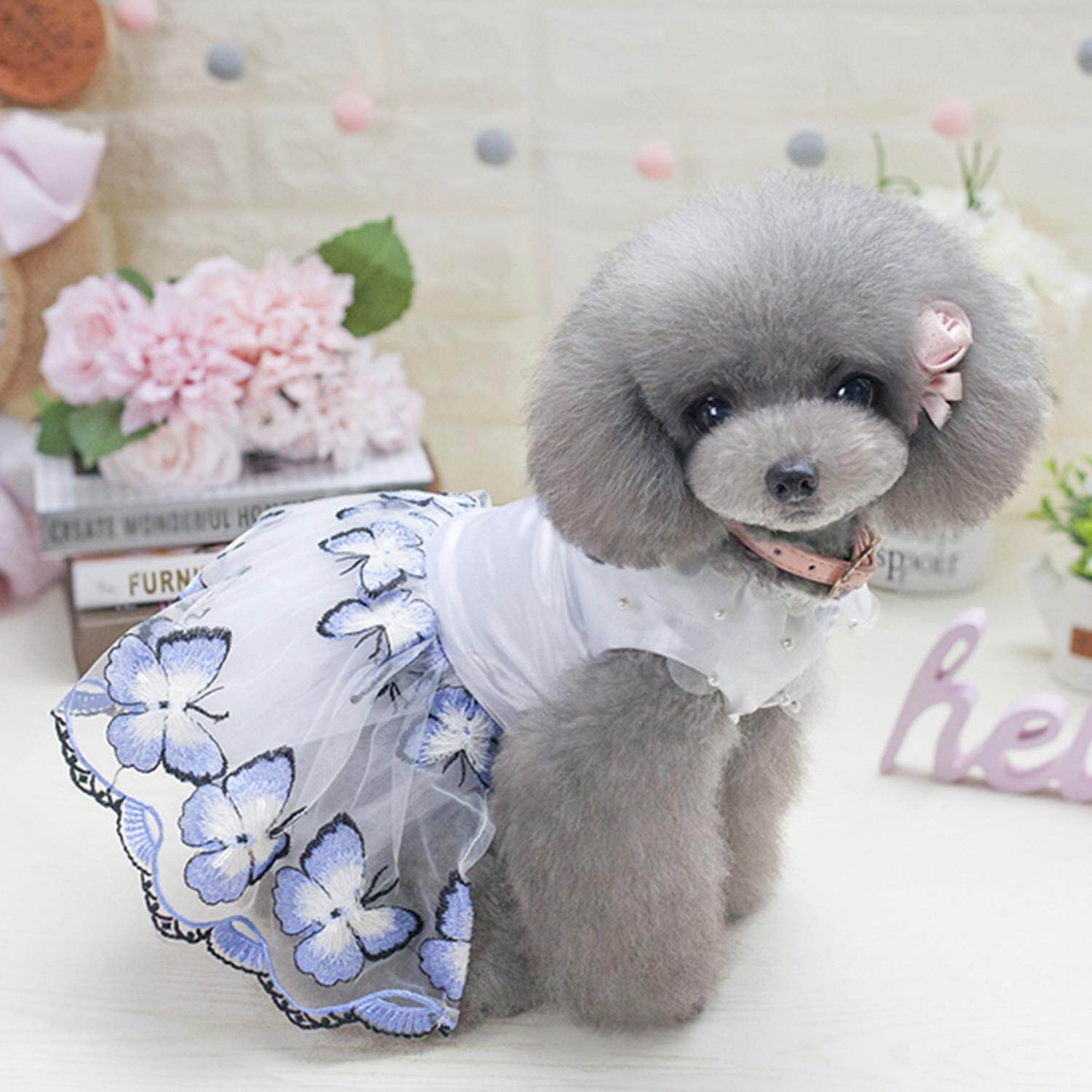 Hình ảnh Dogs Dresses Tulle Butterfly Dream Fantasy Skirt Dresses Summer Clothes Dog Pet Supplies For Pet