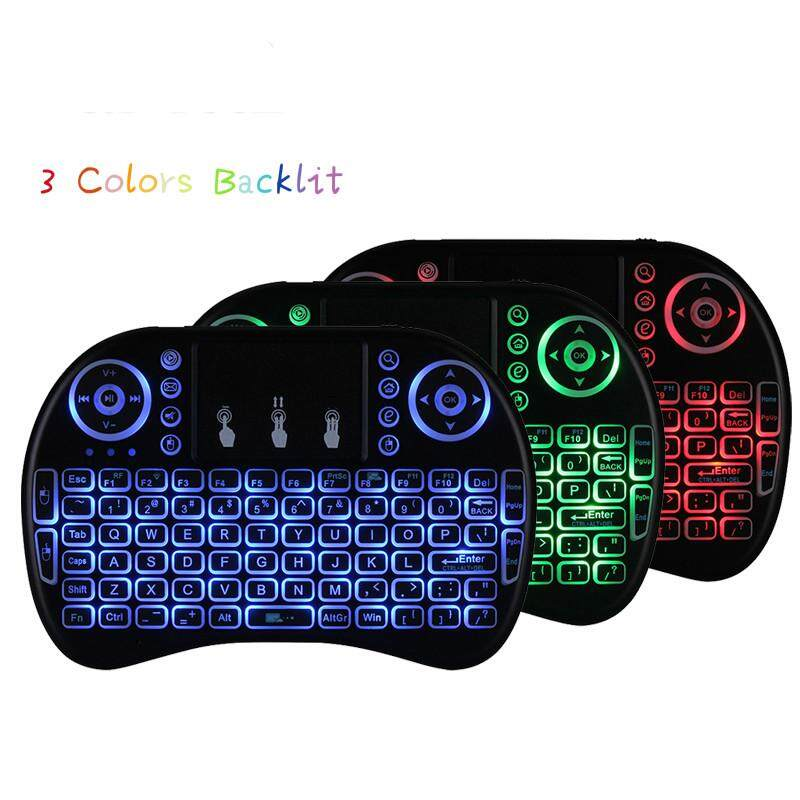 New I8 Mini 2.4GHZ mini backlight gaming Wireless Touchpad Keyboard With Mouse Backlit Touch Pad Qwerty Air Mouse for Laptop PC Smart tv box - intl