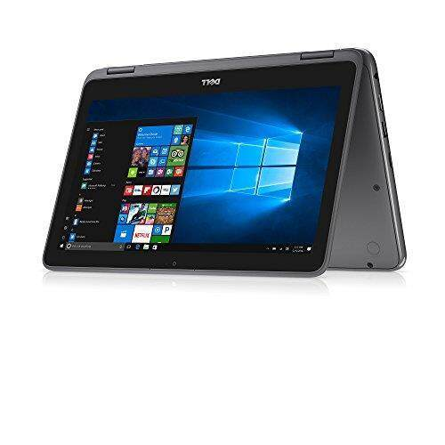 Dell Inspiron 11.6 Touchscreen 2 in 1 Convertible Laptop PC, AMD A6-9220e Processor up to 2.4 GHz, 4GB DDR4, 32GB eMMC SSD, Radeon R4 Graphics, Wifi, Webcam, Bluetooth, Windows 10-Gray