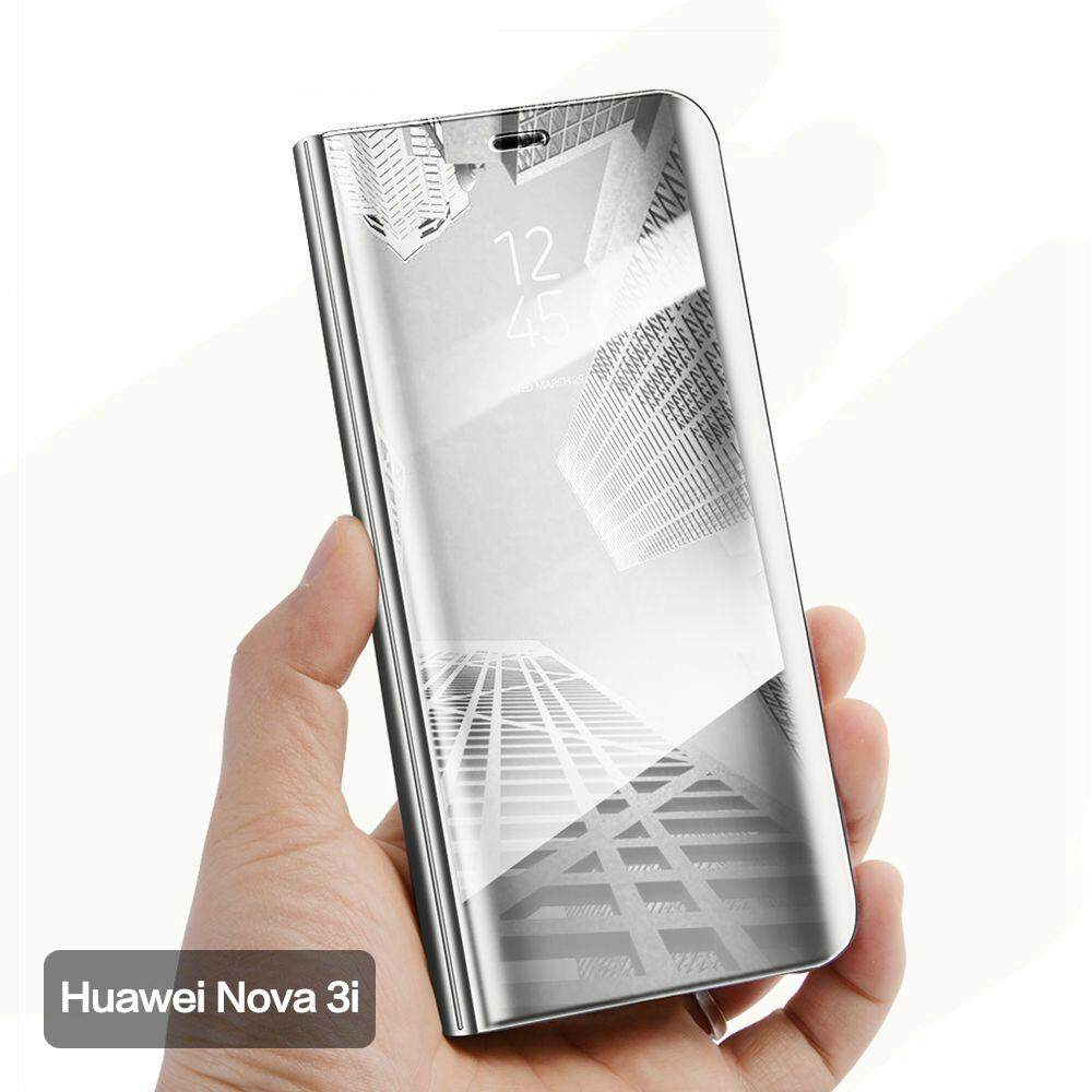 Huawei Nova 3i Cover Smart Plating Mirror Flip Case for Huawei Nova 3I Cases Clear View Housing Shell