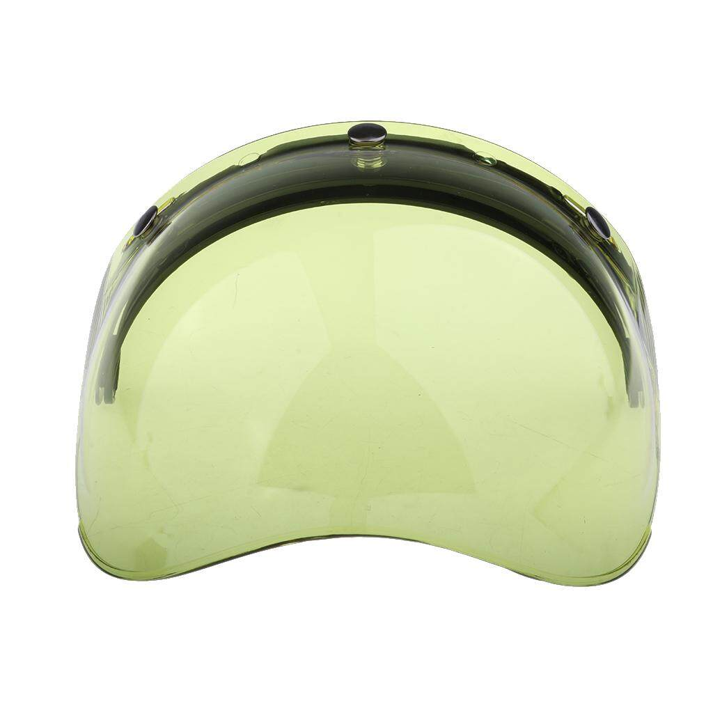 Miracle Shining 3 Snap Flip Up Bubble Visor Shield for Open Face Motorcycle Helmet Color#