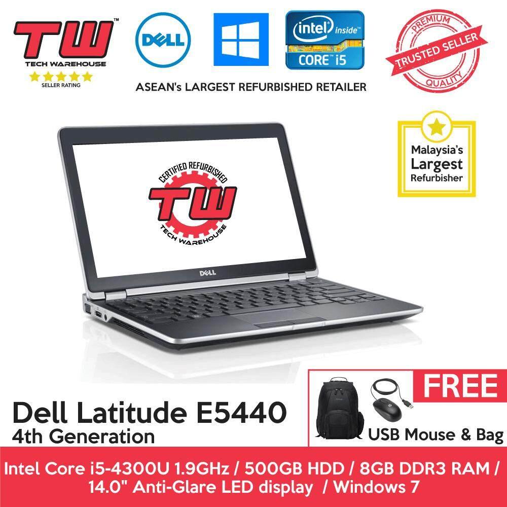 Dell Latitude E5440 4th Generation / 8GB DDR3 RAM / 500GB HDD / Windows 7 Laptop / 3 Month Warranty (Factory Refurbished) Malaysia