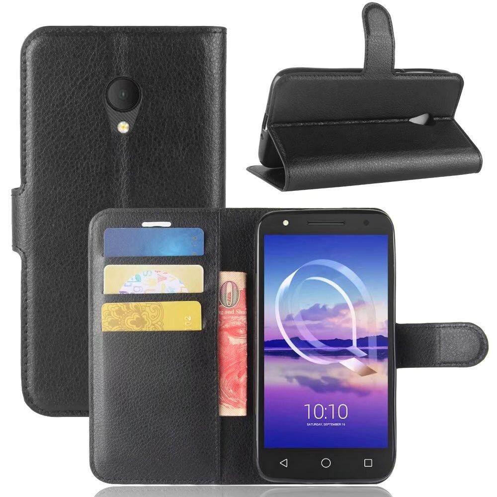 Leather Flip Cover Wallet Card Holder Case For Alcatel U5 HD - intl
