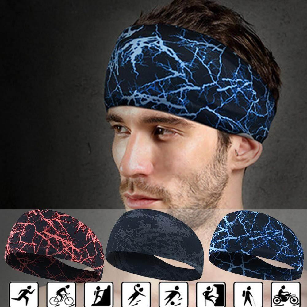 Sport Ikat Kepala Keringat Pita Penahan Keringat Pita Rambut Yoga Lari Bersepeda Dance Kepala Anti Keringat