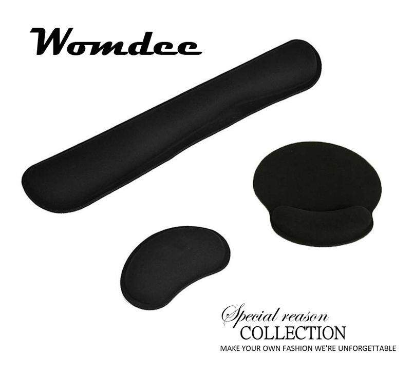 Womdee Keyboard Wrist Rest Pad, Mouse Gel Wrist Rest Support And Mouse Pad Set, Ergonomic Wrist Cushion Support With Memory Foam For Computer And Laptop, 3 Items In 1 Set Malaysia