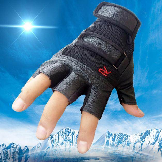 Fashion Deal Men Tactical Outdoor Sports Bike Bicycle Half Finger Leather Gloves Free Shipping