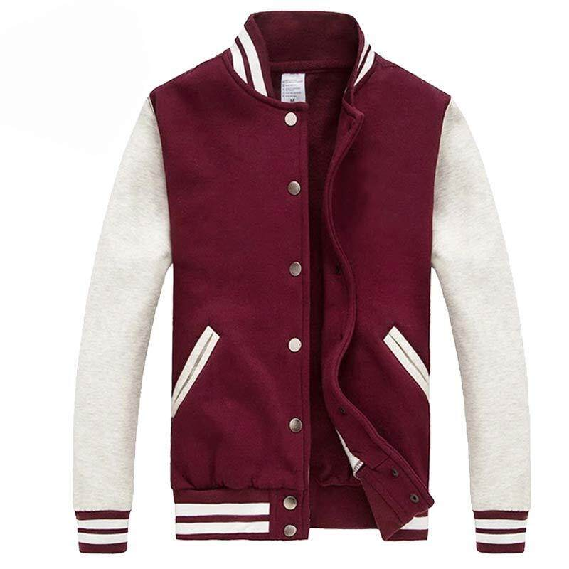ZZOOI Men/women Bomber Jacket 2016 Autumn Fashion Wine Red Baseball Jacket Casual Brand Cotton