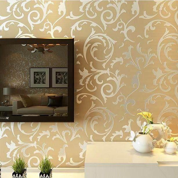 Fashion 10*0.53 M Wallpaper DIY Non-woven Kertas Dinding HD Wallpaper Bunga untuk Dekorasi Rumah