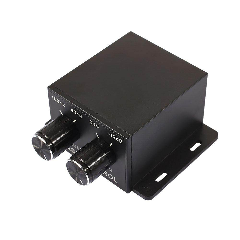 Bass Controller เครื่องขยายเสียง Universal ปุ่มปรับระดับเสียงซับวูฟเฟอร์รถยนต์.