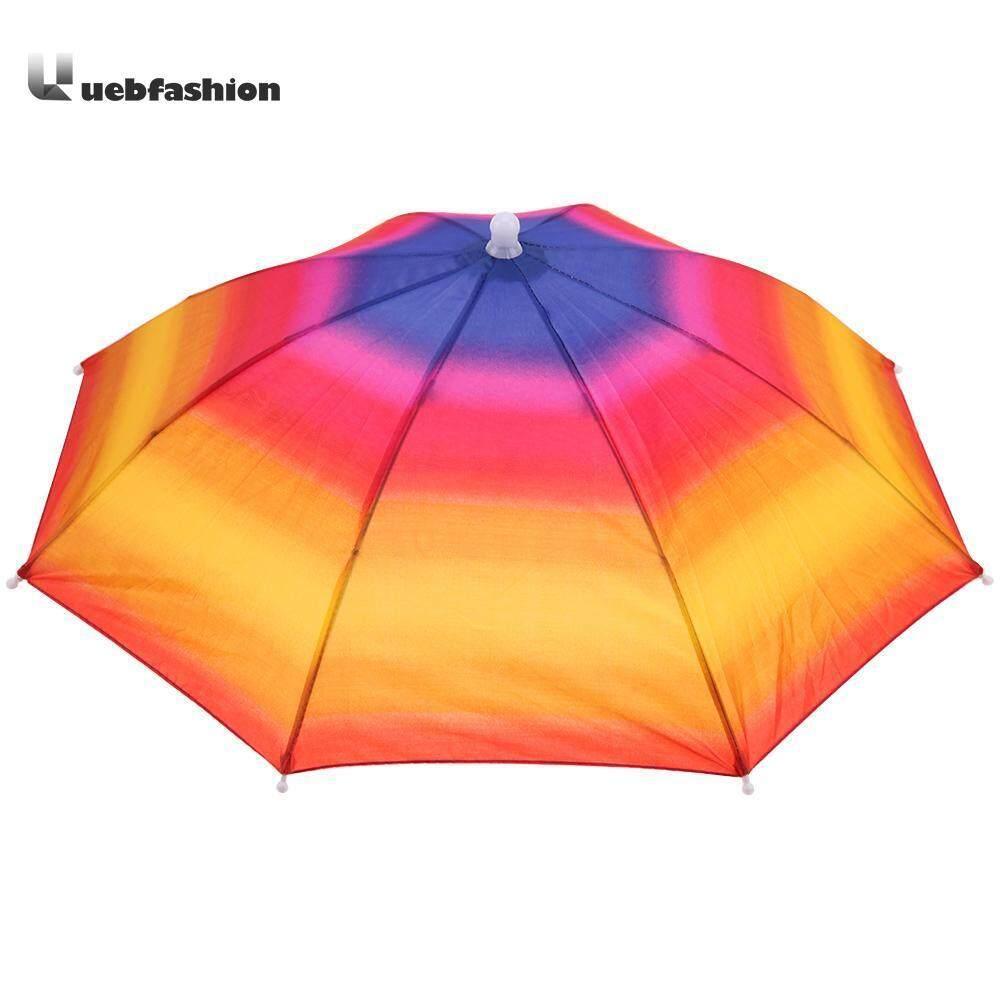 Portable Payung Serbaguna Topi Pelindung Matahari Kemah Luar Ruangan Anti Air Hiking Memancing Festival Parasol Lipat