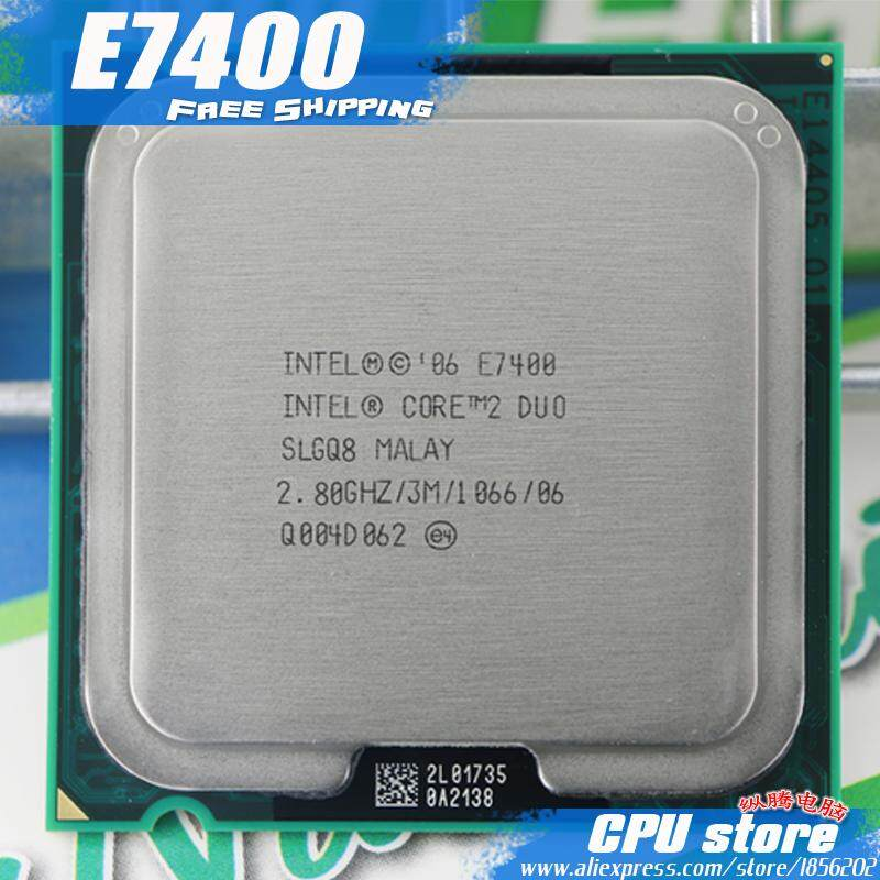 Intel Core 2 Duo E7400 Prosesor CPU (2.8 GHz//1066 GHz) Socket 775-Intl