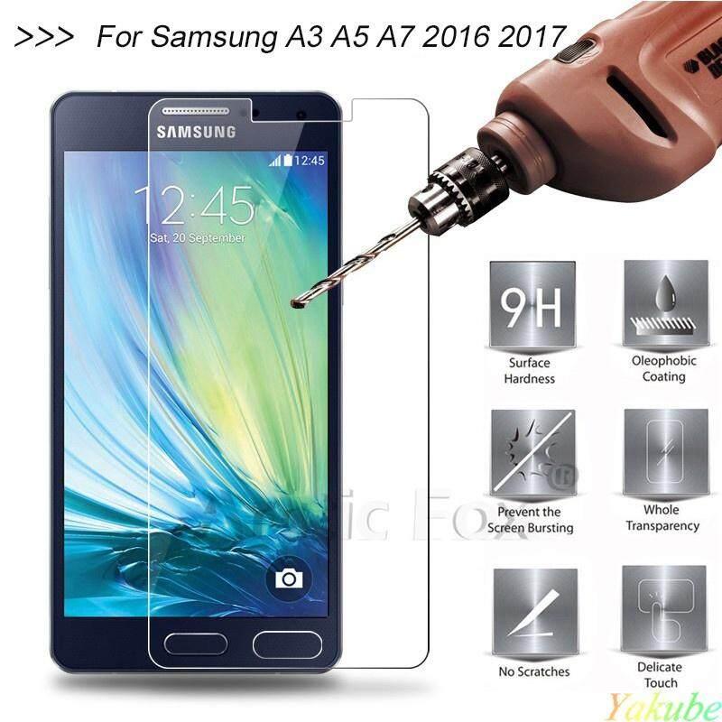 Yakube 1 Pcs untuk Kaca Samsung Galaxy A3 Kaca Kokoh untuk Samsung Galaxy A3 A5 A7 2016 Kaca untuk Samsung A3 A5 A7 2017 film (Jelas) (XiaoMi Mi 3)-Intl