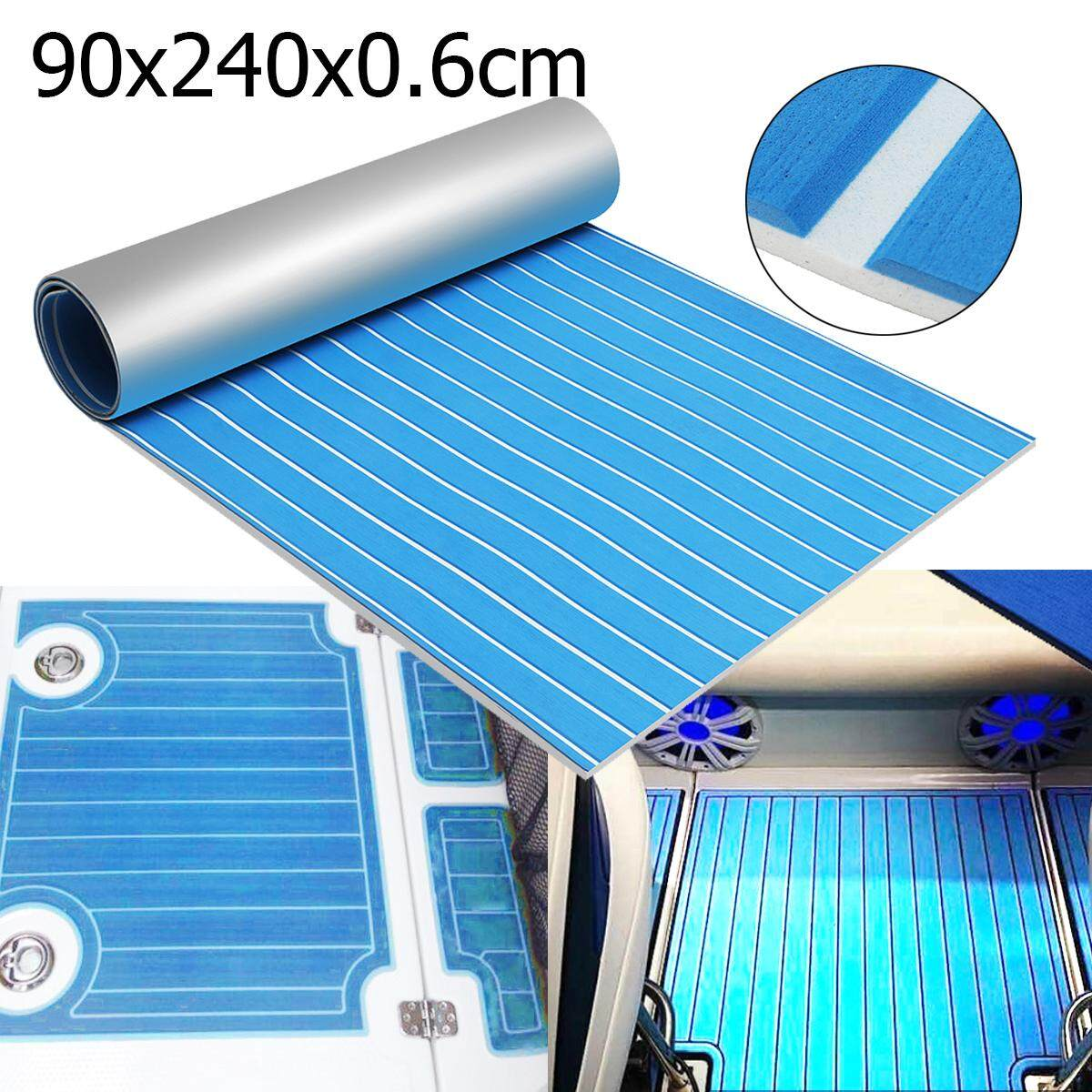 94.5x39.4 Upgrade Blue EVA Foam Teak Floor Marine Boat Sheet Decking Yacht