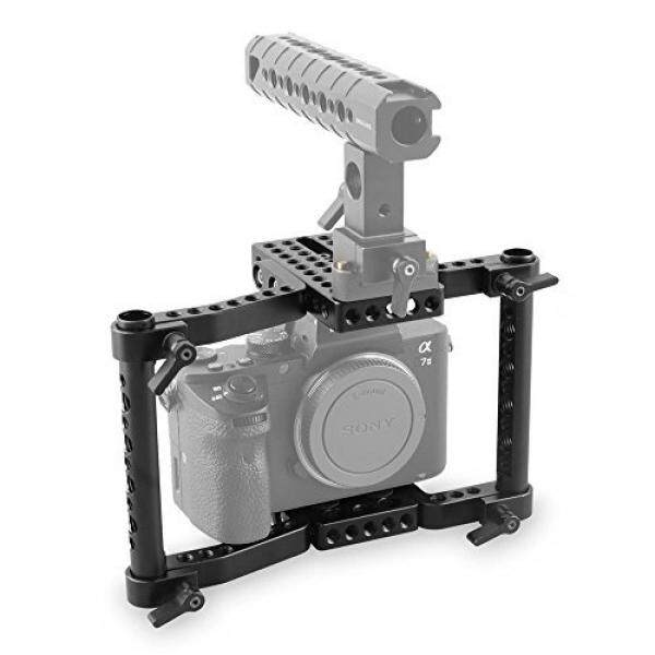 SmallRig Camera Cage Video Camera Cage for DSLRs/SLR Panasonic GH5/GH4/GH3, Canon EOS 5D Mark III/80D/70D/6D/7D, Nikon D7200/D7000/D7100, Sony A7II/A7SII, Fujifilm X-T2