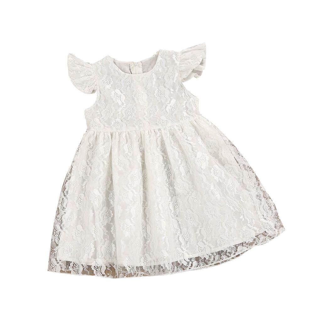 Ormondshop Balita Anak-anak Bayi Gadis Bunga Ruffle Putri Pesta Gaun Anggun Pakaian-Intl