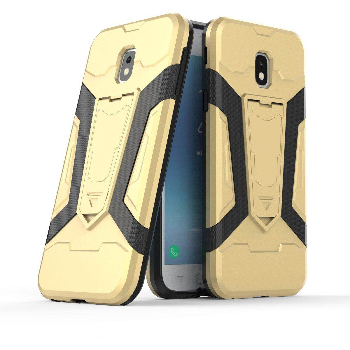 Hybrid Rugged Armor Hard Back Cover Case with Kickstand for SamsungGalaxy J2 2015 J200 - intl