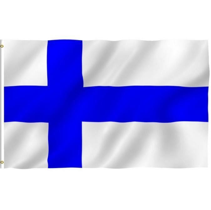 Fanestiy 90X150 Cm Suomen Tasavalta/Republiken Bendera Finlandia Suomi Banner Siniristilippu