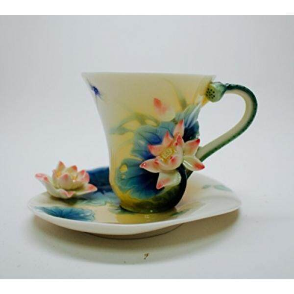 Cup & Saucer Sets Franz Porcelain Lotus Harmony Cup Saucer Spoon - intl