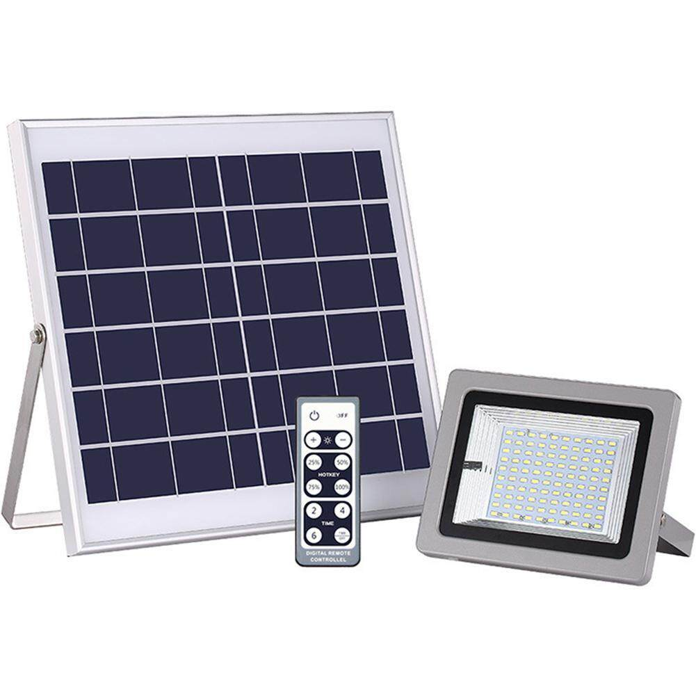 Kobwa Solar Flood Light, Remote Control Floodlight LED Waterproof Outdoor Security Light with 36 LED for Garage, Yard, Garden, Lawn, Basketball Court