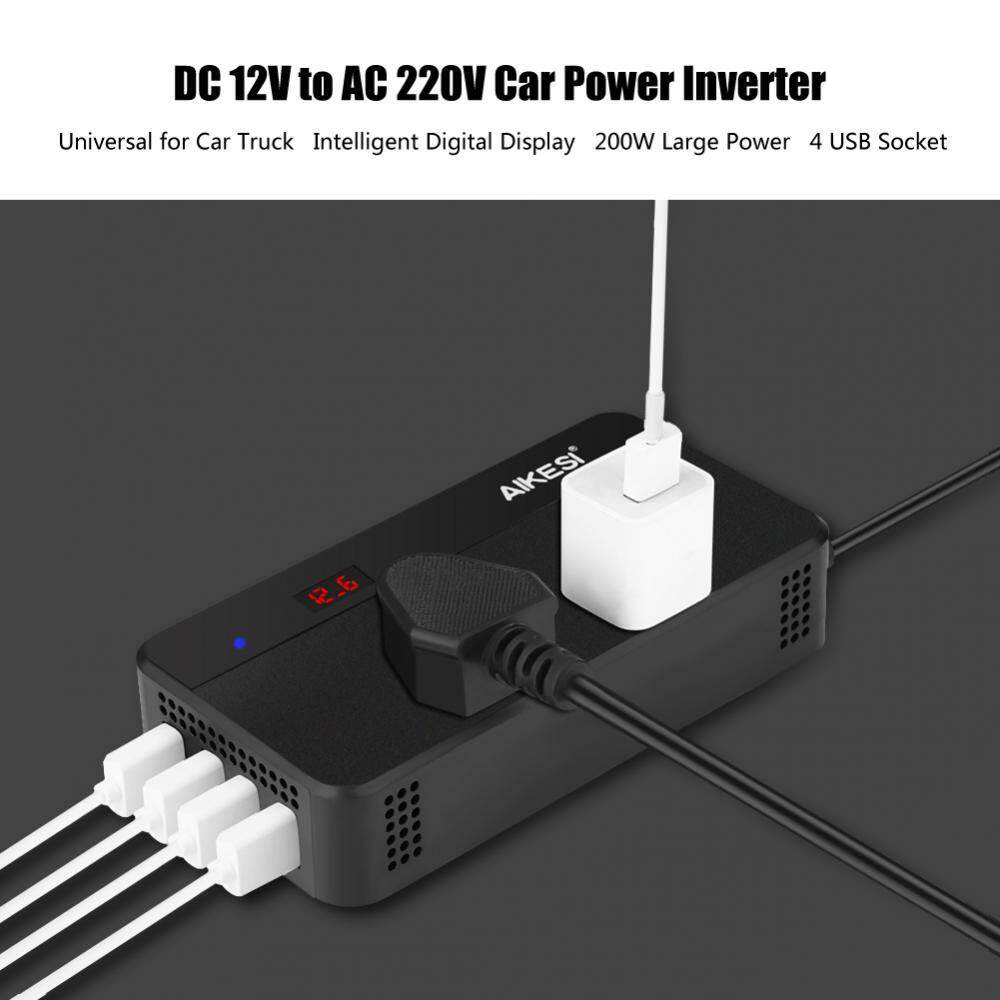 Car Inverter For Sale Power Converter Online Brands Prices Circuit Diagram Of On 220v To 12v Dc Ac Dc12v Ac220v 200w 4 Usb Charger Without Hole Intl