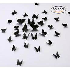 Kakuu 36 Pcs Decal Dinding Kupu-kupu-3D Kupu-kupu Stiker Dinding Lukisan