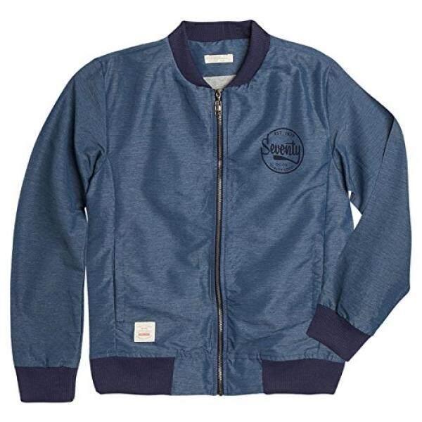 Offcorss Besar Anak Laki-laki Jaket Bulu Angsa Lengan Panjang Biru 14-Intl
